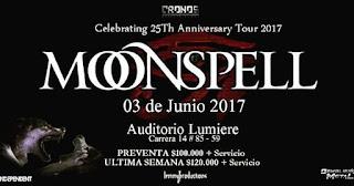 Concierto de MOONSPELL en Bogotá