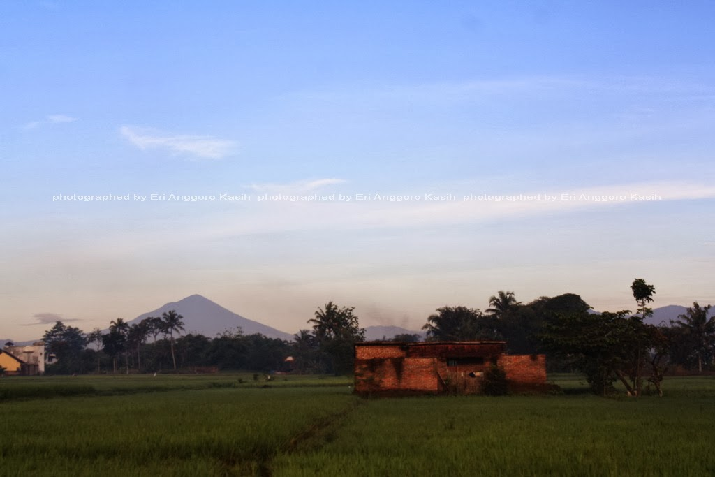 Memotret Gunung di Pagi Hari