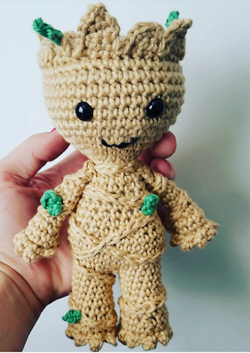 Snugglyfoxdesigns crochet grover hat baby groot mod pattern fandeluxe Images