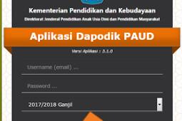 Download [Aplikasi] Dapodik  Paud VERSI 3.1.0 Untuk Pengisian Dapodik Paud Tahun 2017/2018 Semester I (GANJIL)