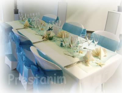 Décoration mariage thème sable et coquillage turquoise