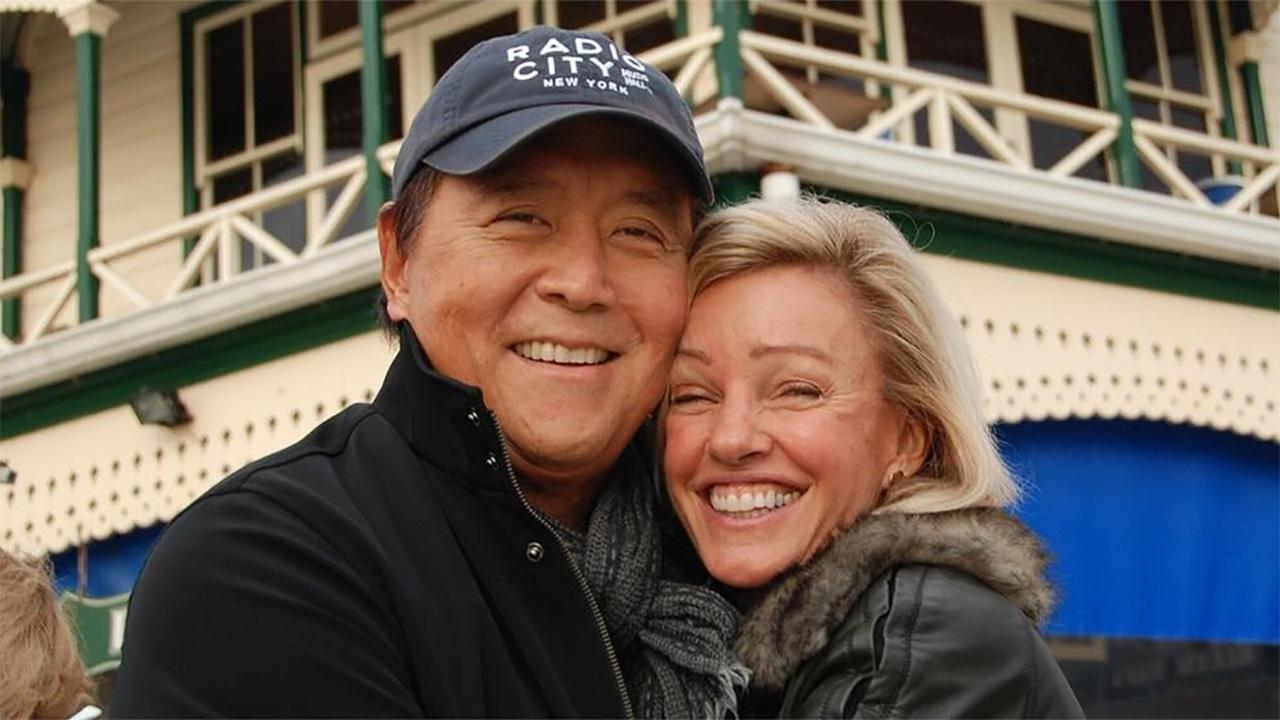 Kim Kiyosaki with her husband Robert Kiyosaki