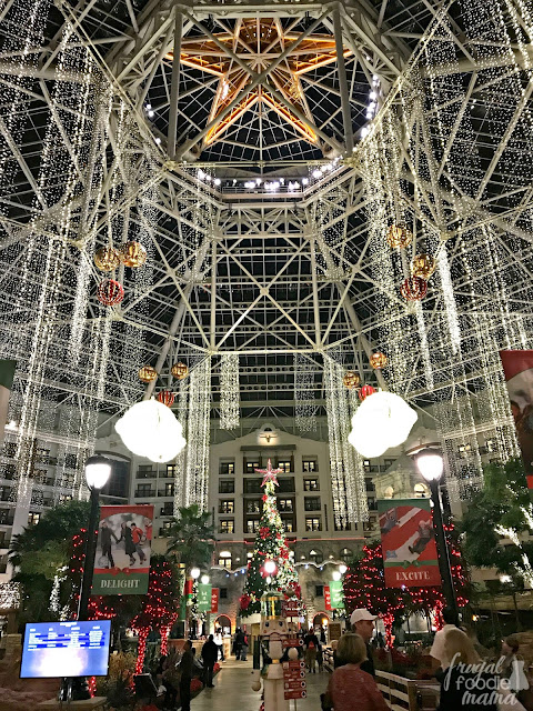 The Gaylord Texan is a treat to visit any time of the year, but the entire resort becomes extra magical during the holiday season. During a Lone Star Christmas, the entire atrium is transformed into a twinkling indoor wonderland with giant sparkling jingle bells & towering Christmas trees.