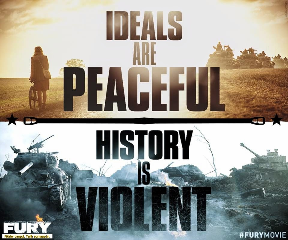 fury-ideals are peaceful-history is violent