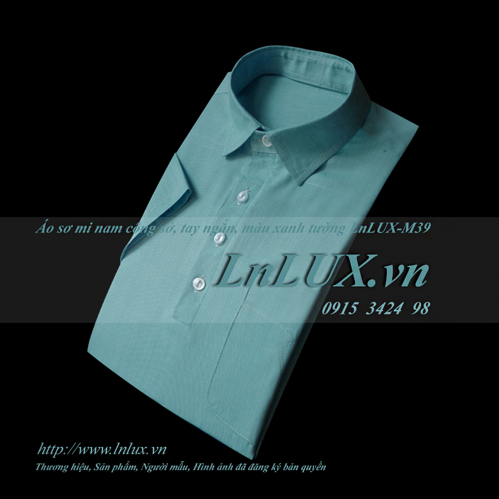 lnlux.vn-ao-so-mi-nam-cong-so-tay-ngan-mau-xanh-tuong-lnlux-m39