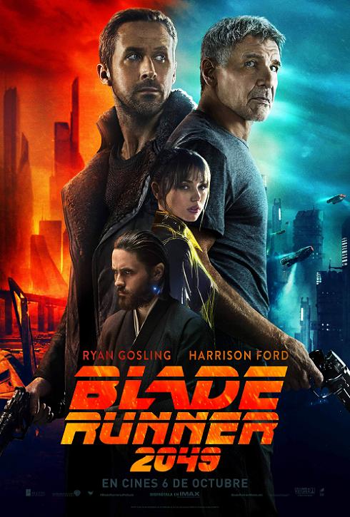 "Póster Internacional de ""Blade Runner 2049""."