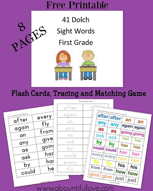 https://www.teacherspayteachers.com/Product/41-Dolch-Sight-Words-for-First-Grade-3226251