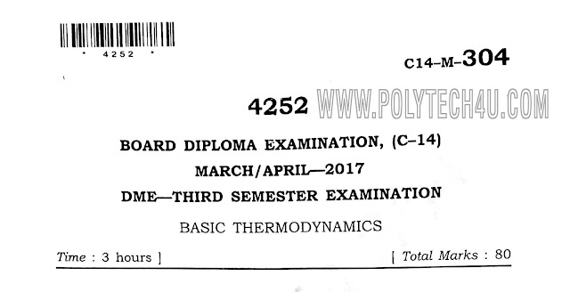 d-me c14 basic thermodynamic previous question papers ,mechanical papers.