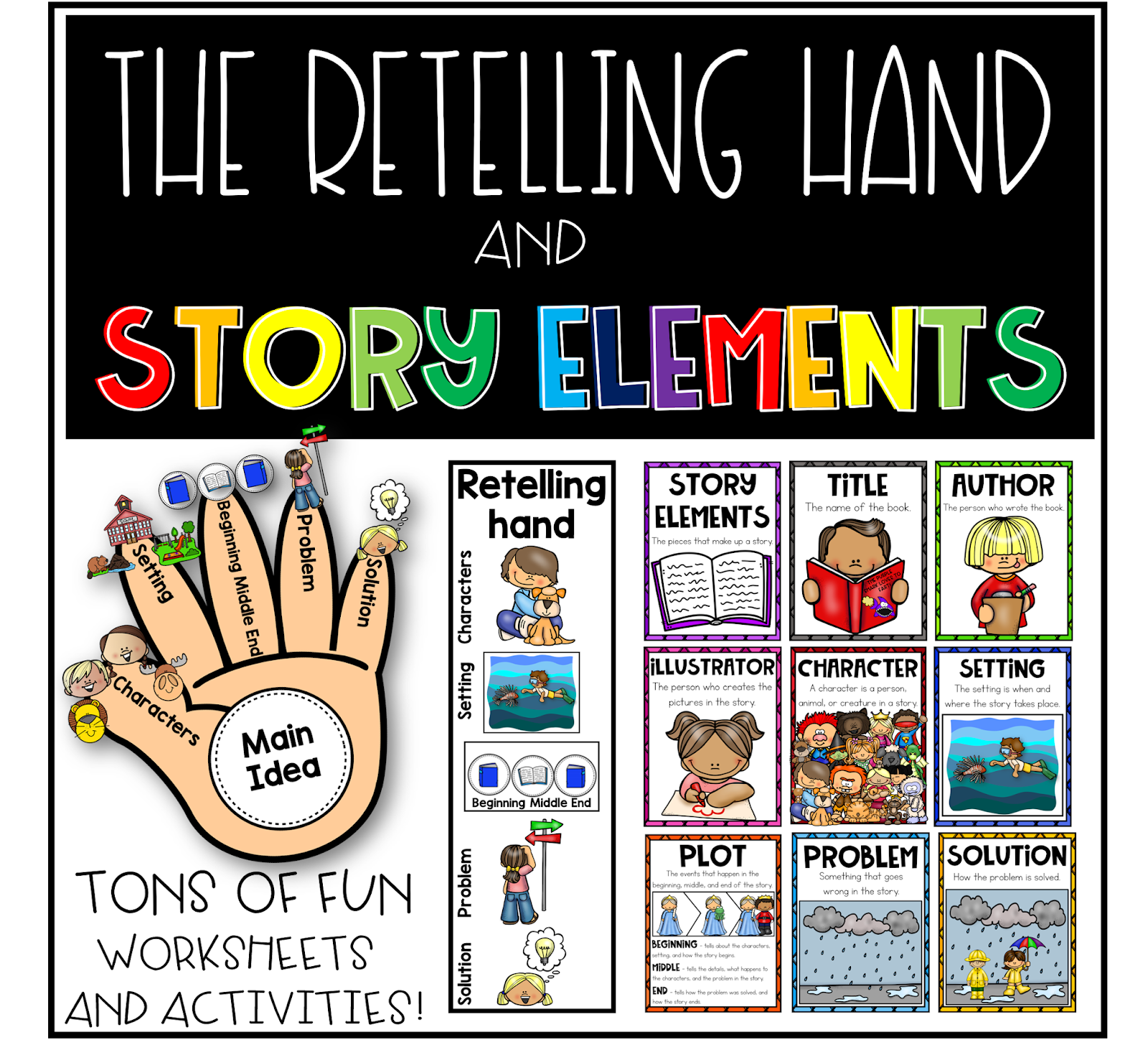 Story Elements Worksheets For 2nd Grade   Printable Worksheets and  Activities for Teachers [ 1482 x 1600 Pixel ]