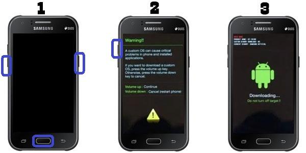 Cara Flashing Pada Samsung Galaxy J1 SM-J100H via Odin