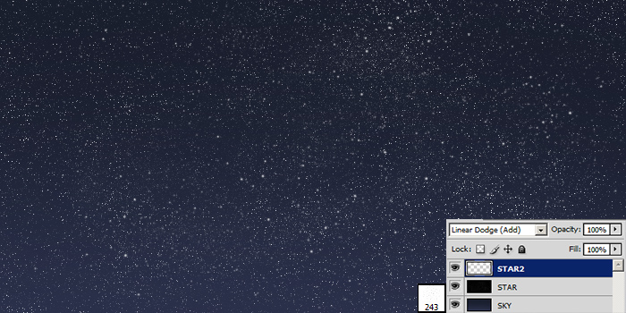 photoshop starfield tutorial