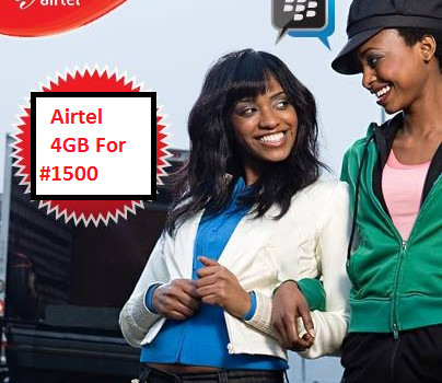 Airtel 4GB Internet Bundle Plan For 1500