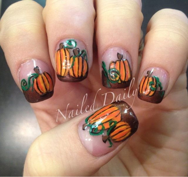 Thanksgiving and Fall Nail Art {Ideas and Tutorials} - A Sparkly ...