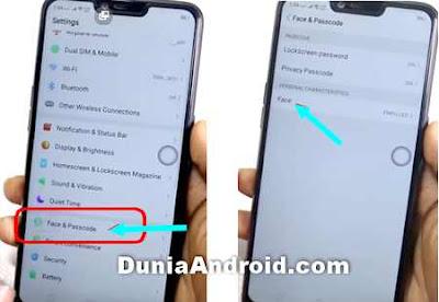 menu kunci layar dan app di OPPO A3S