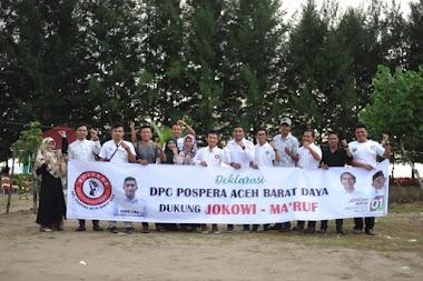 Pospera Abdya Deklarasikan Dukungan Untuk Jokowi-Ma'aruf