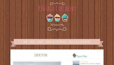 Vintage Cupcakery Blogger Templates