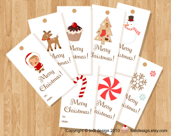 Cute Tags: Todi: Cute Christmas Gift Tags