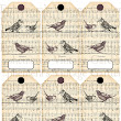 Ephemera's Vintage Garden: Weekly Freebie - 'Birds Of A Feather' Hang Tags