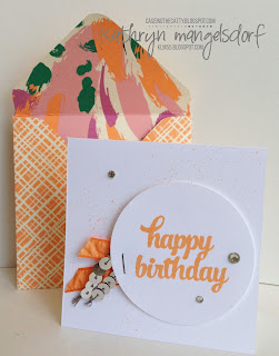 Stampin' Up! Tin of Cards, 2016-18 In Colors created by Kathryn Mangelsdorf