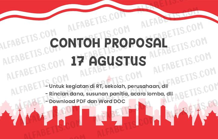 Proposal 17 Agustus di Sekolah, RT, dan Karang Taruna