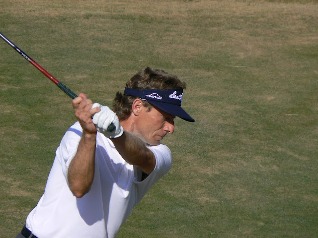 Bernhard Langer appears often on the list of yearly Champions Tour win leaders