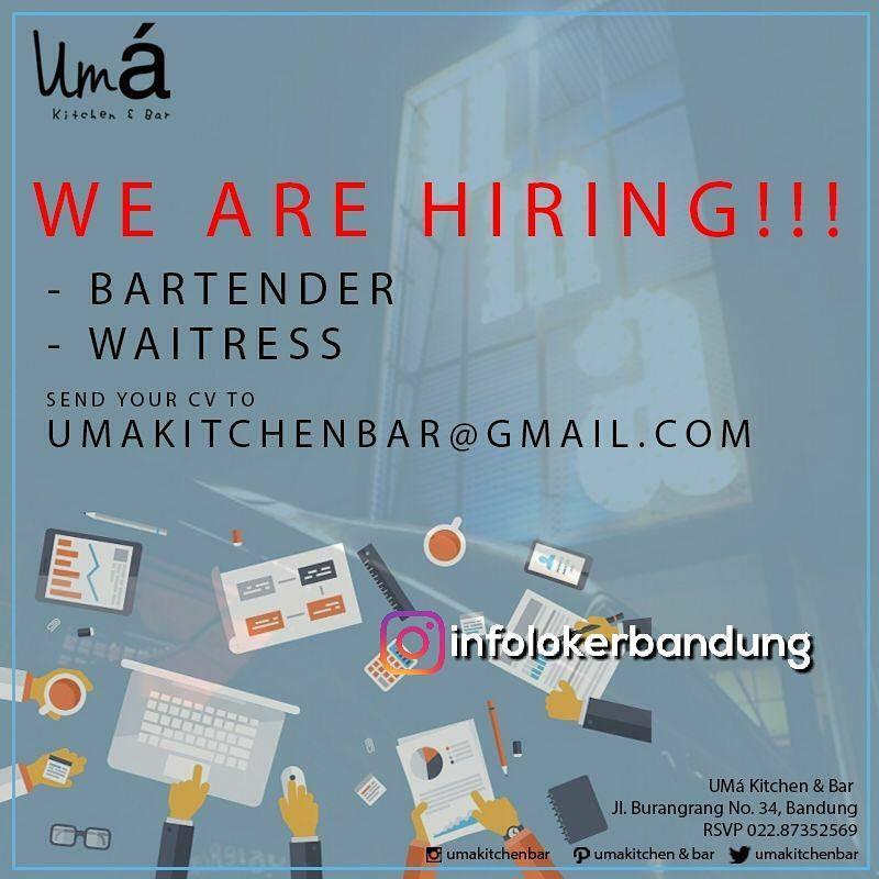 Lowongan Kerja Uma Kitchen & Bar Bandung Januari 2018