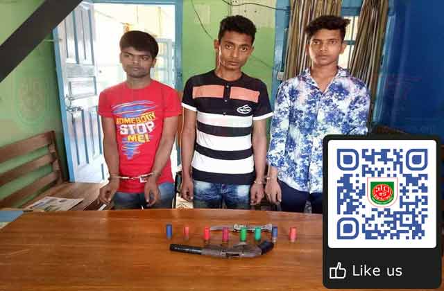 Banskhali detained three youth with arms