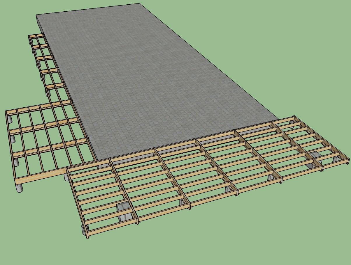 Les barboteurs - Plot beton pour poteau bois ...