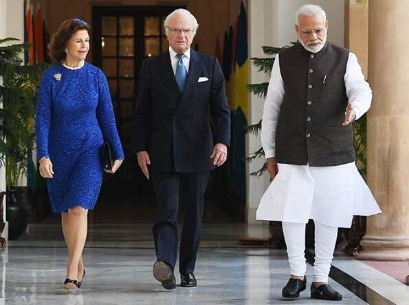 President Ram Nath Kovind and Savita Kovind welcomed the King and Queen with an official ceremony at Rashtrapati Bhavan