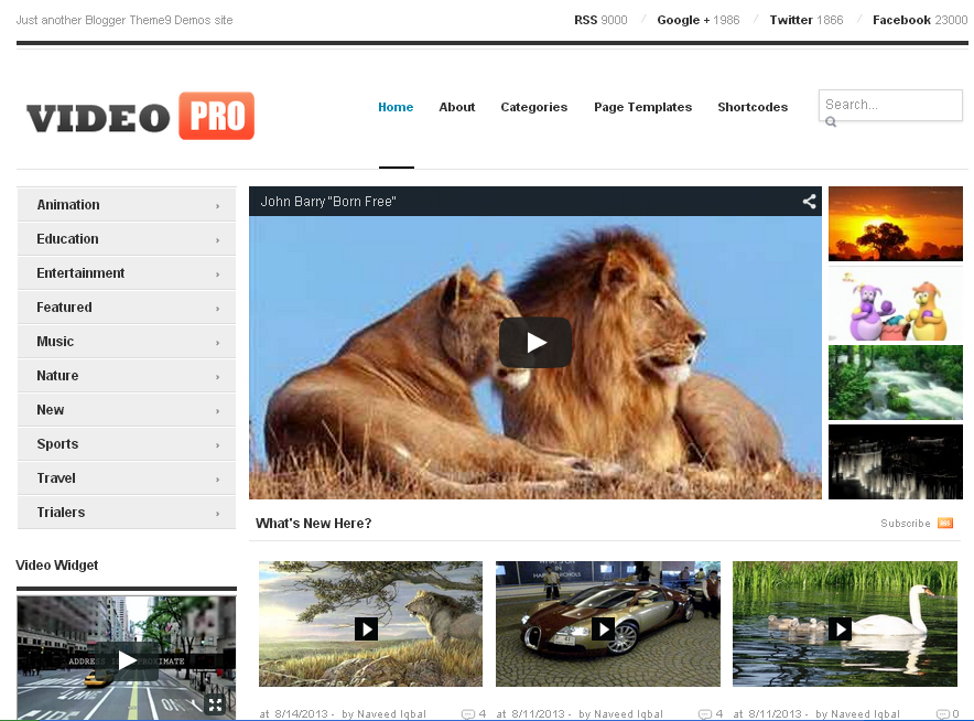 VideoPro Responsive Blogger Template Free Download
