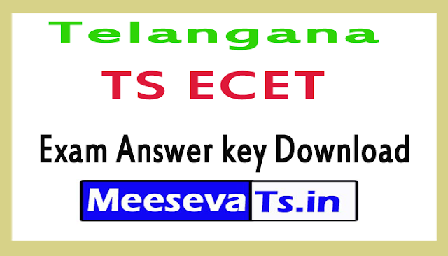 Telangana TS ECET Exam Answer key Download 2018