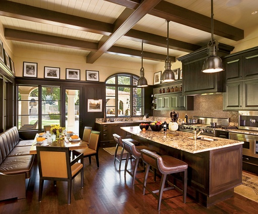 Six degrees of separation from a white MASTER CLASS: BANQUETTE - Kitchen Island With Booth Seating'S, BOOTHS, BUILT-IN SOFA'S! - The Enchanted Home
