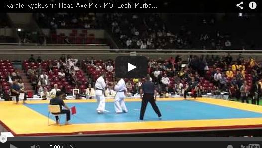 Karate Kyokushin Head Axe Kick KO- Lechi Kurbanov vs Wahyu