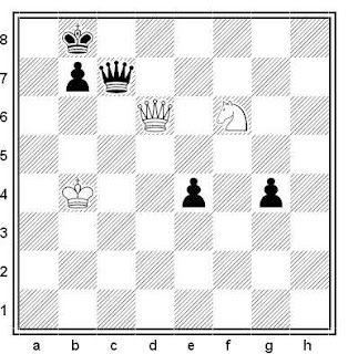Estudio artístico de Paul Heuäcker (Deutsche Schachzeitung, 1964)