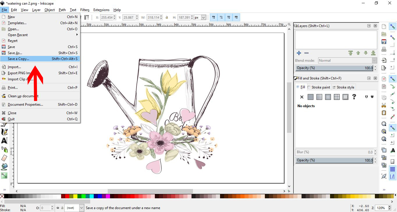How to open and save a PDF in Inkscape | Design Bundles