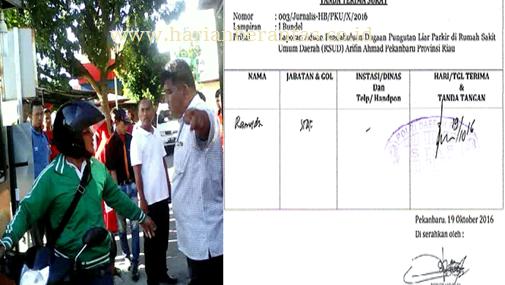 Praktek Pungli di RSUD Arifin Ahmad Pekanbaru-Riau, Dilaporkan ke Polresta Pekanbaru