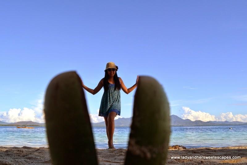 Lady in Pandan Island Palawan