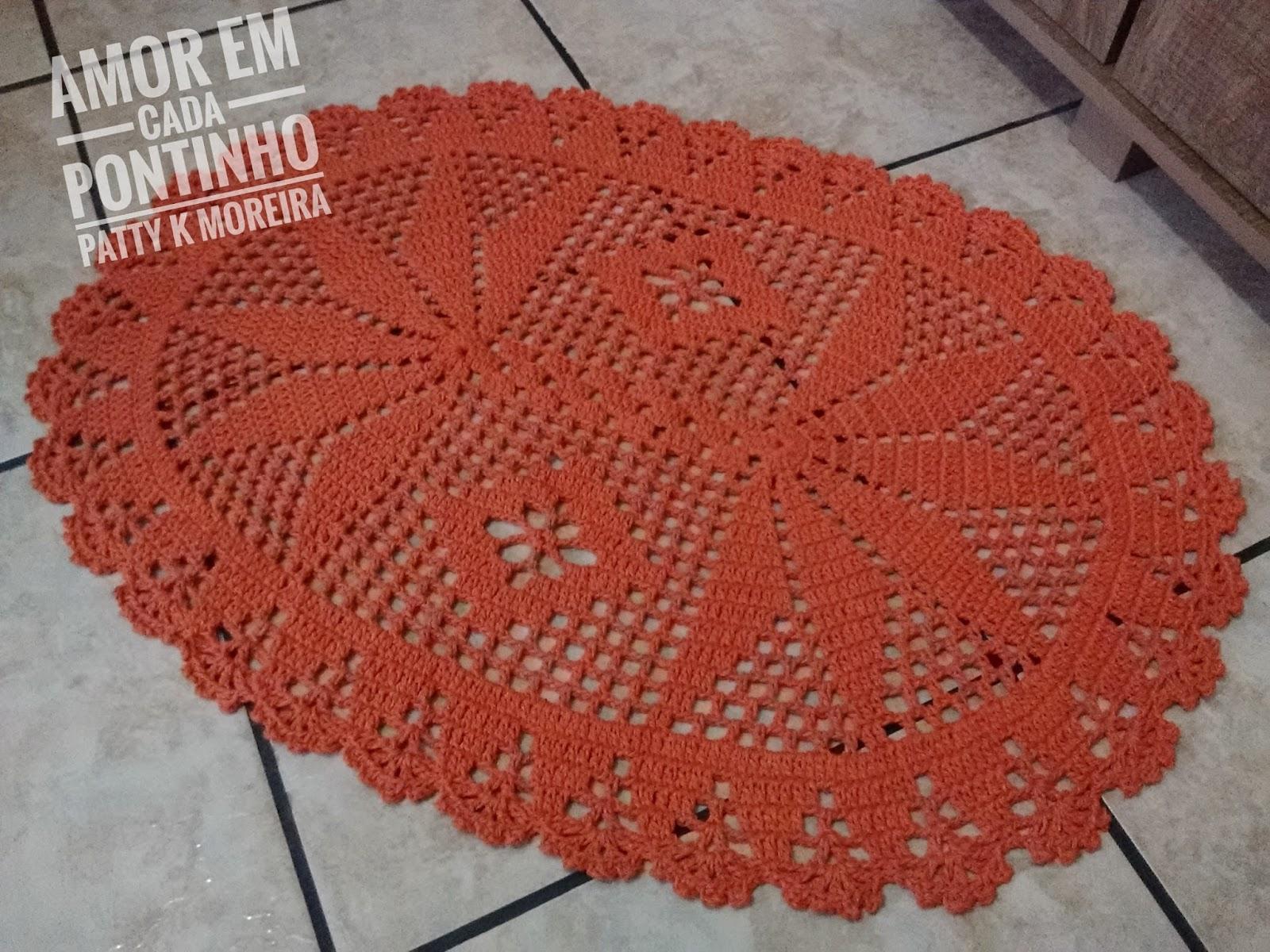 Tapete Oval Apaixonada Por Artes Kadhim Alsahir -> Tapete De Croche Oval Simples Passo A Passo