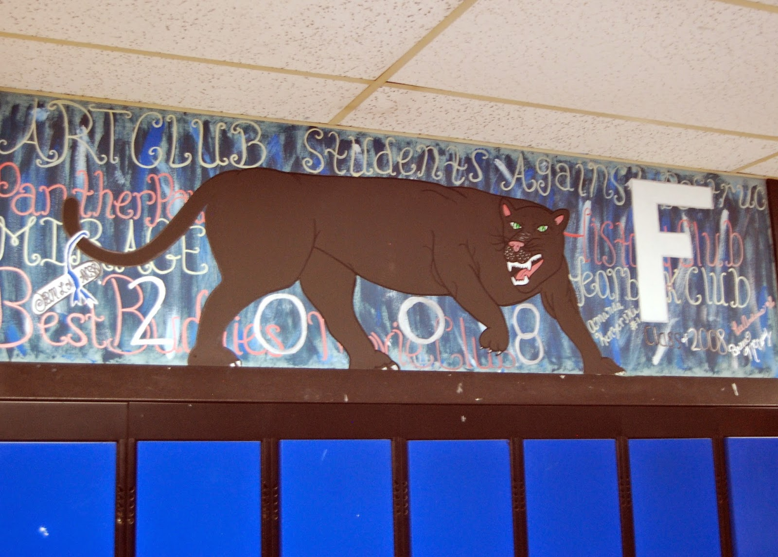 student murals above the lockers 4