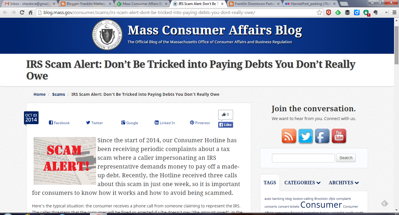 Mass Consumer Affairs Blog