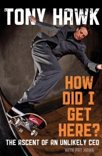 tony hawk, skateboard, book
