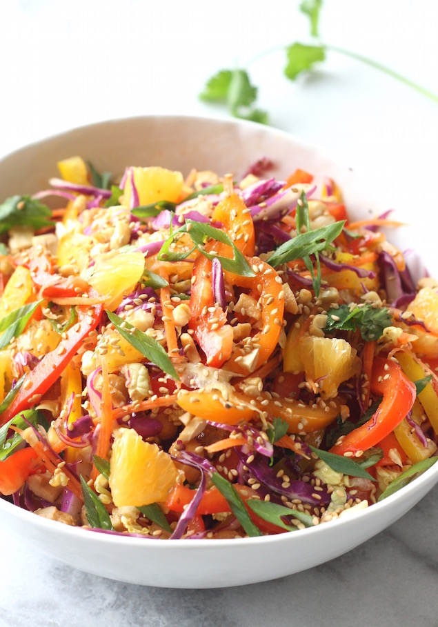 Asian Citrus Cabbage Slaw recipe by SeasonWithSpice.com