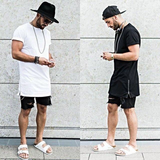 look masculino com sandália