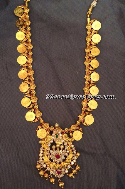 92.5 Silver Kasu Mala with Pendants