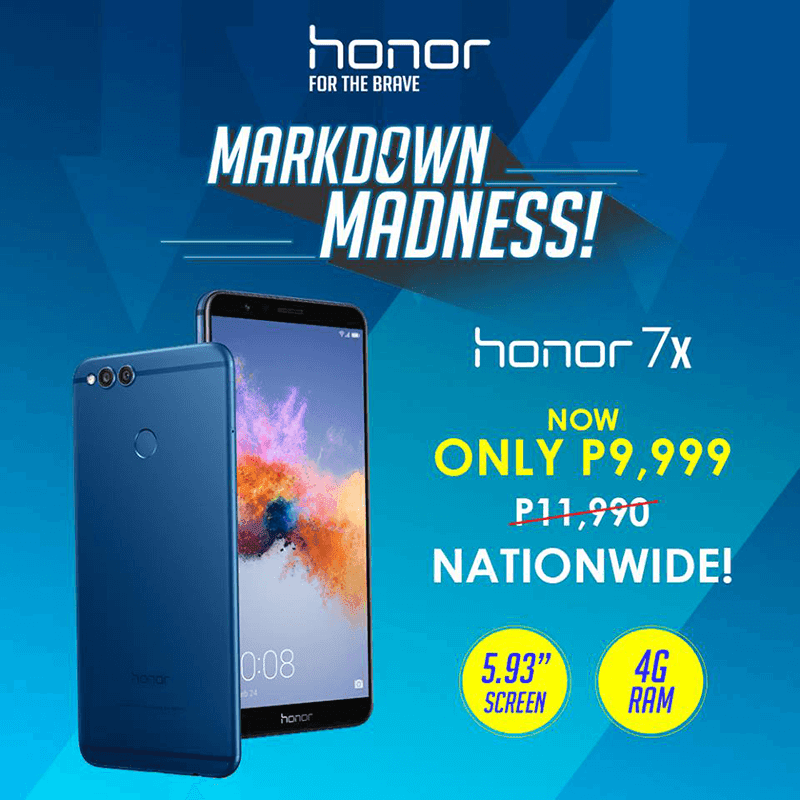 Sale Alert: Honor 7X with 4GB RAM is now priced at just PHP 9,999!