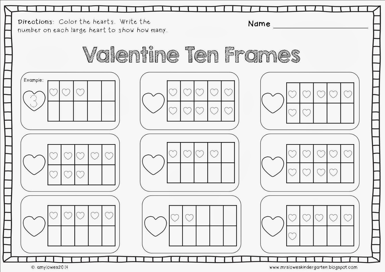 Mrs Lowes Kindergarten Korner No Prep Valentine S Day Math And Literacy Printables Giveaway