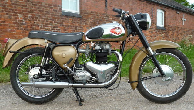 BSA A10 Golden Flash 1950s British classic motorcycle