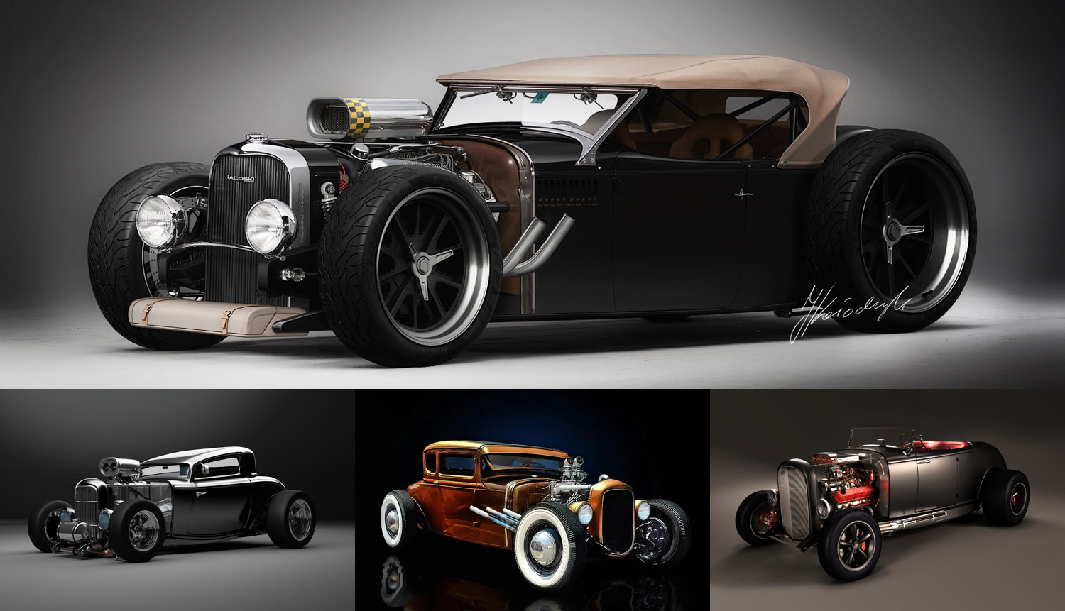 Muscle Car Collection Rat Rod Car Modification Collection