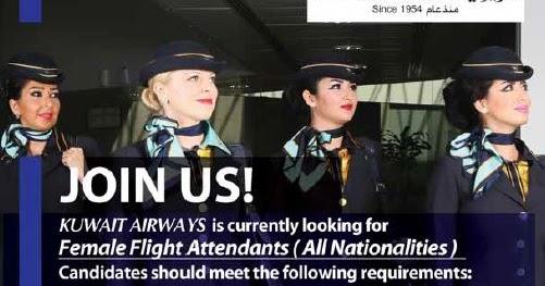 Female Flight Attendants Crew Recruitment In Kuwait