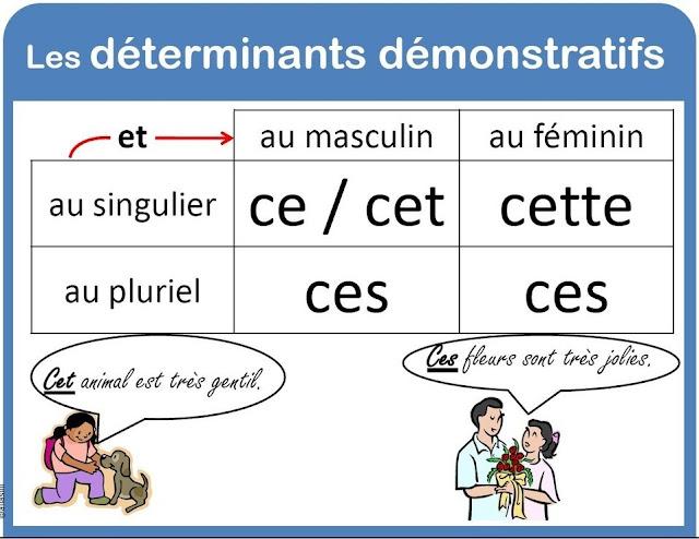 Les adjectifs démonstratifs   صفات الإشارة